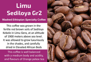 Limu Gera Sediloya Gr2 - Washed Ethiopia Coffee (Medium Roast)