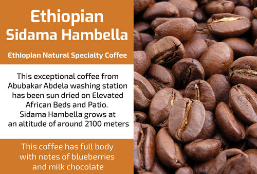 Sidama Hambella Gr3 - Natural Ethiopia Coffee (Medium Roast)