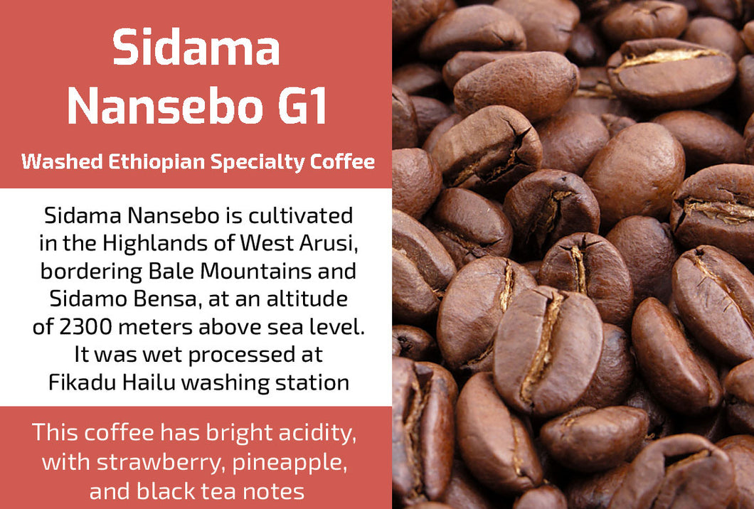 Sidama Nansebo Gr1 - Washed Ethiopia Coffee (Medium Roast)