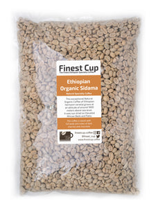 Ethiopian Organic Sidama - Unroasted Natural Coffee