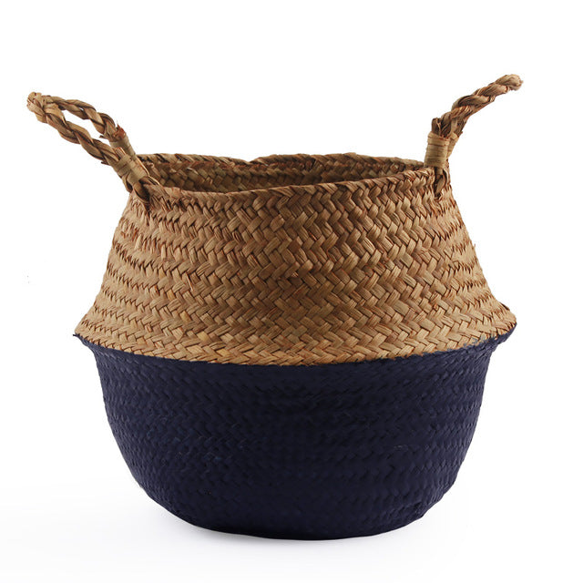 Seagrass Belly Storage Basket Straw Basket