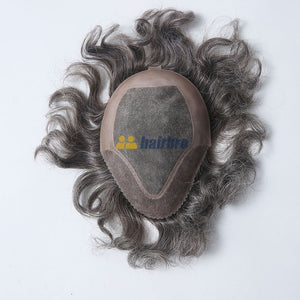 Custom PU Front Hairline Mono Hair Replacement System