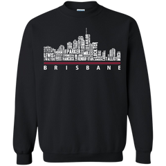 Brisbane City Skyline Typography Shirts T shirts