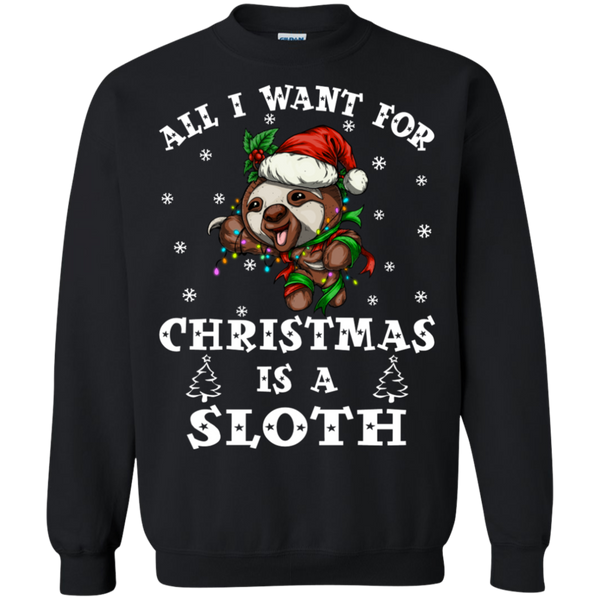 Sloth Christmas Shirts I Want For Christmas Is A Sloth
