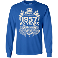 Awesome Shirts Februry 1957 60 Years Being Awesome   Copy