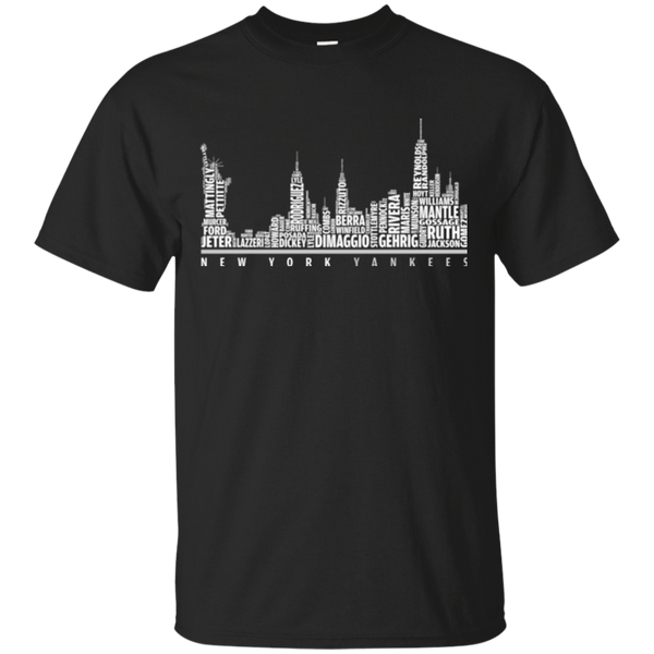 New York Yankees Typo City Skyline Shirts Hoodies Sweatshirts