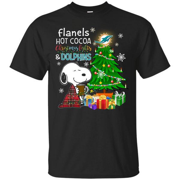 Miami Dolphins Snoopy Christmas Shirts Flanels Hot Cocoa