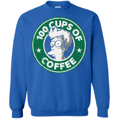 100 Cups Of Coffee Philip J. Fry Futurama Starbucks Shirts
