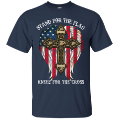 Anaheim Ducks Shirts Stand For The Flag Kneel For The Cross T shirts