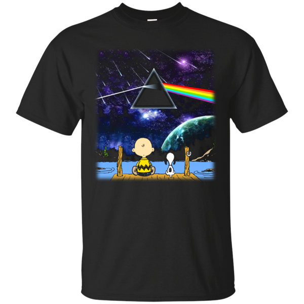 Dark Side Of The Moon Peanuts Snoopy Pink Floyd Shirts
