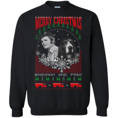 Smokey And The Bandit Ugly Christmas Sweater Snowman And Fred