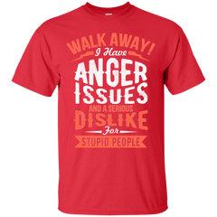 Angry Man Shirts  Walk Away I Have Anger Issues