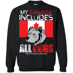 Canada Dogs Shirts My Canada Includes All Dogs
