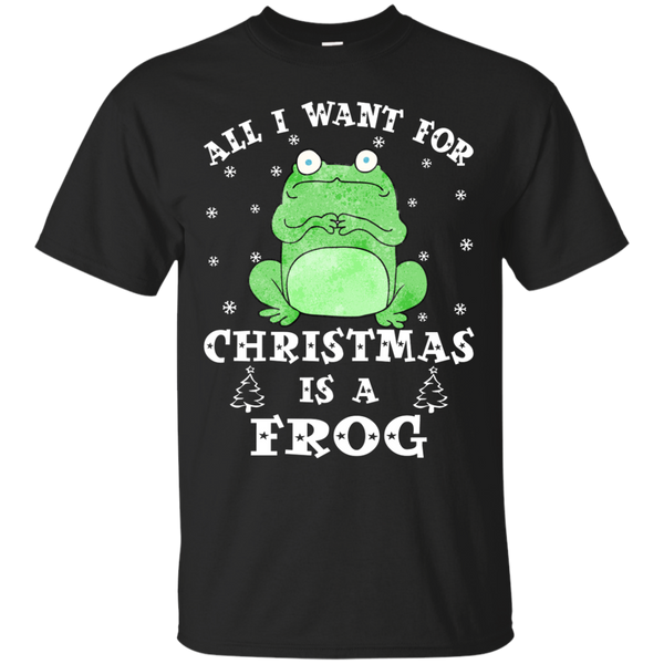Frog Christmas Shirts I Want For Christmas Is A Frog