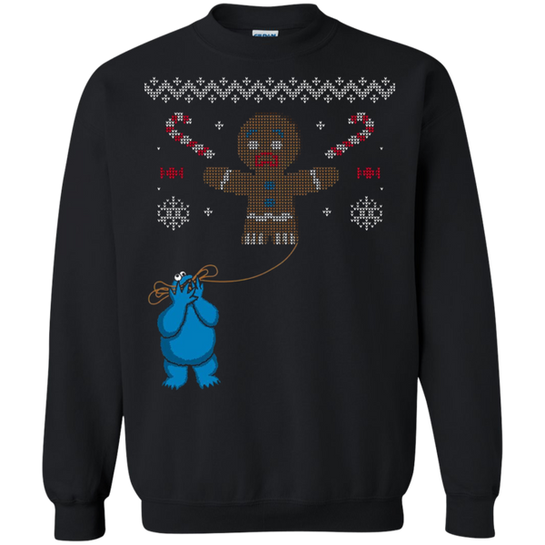 Sesame Street Cookie Monster Eating Christmas Knit Pattern Men's T-Shirt