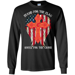 Calgary Flames Shirts Stand For The Flag Kneel For The Cross T shirts