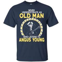 Angus Young Shirts Old Man Listens To Angus Young