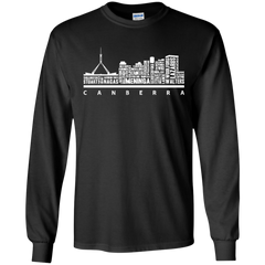 Canberra City Skyline Typography Shirts