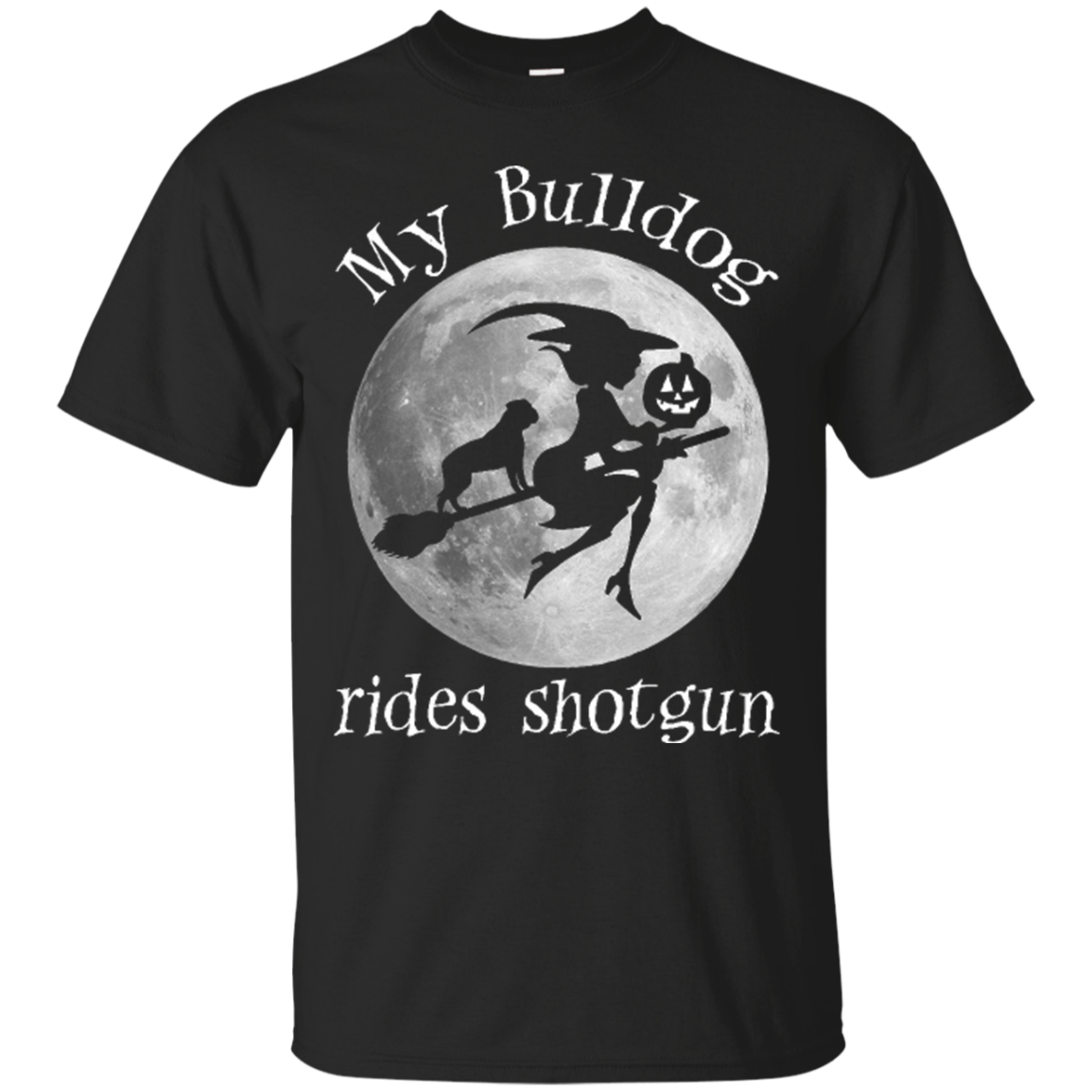 Bulldog Halloween Shirts My Bulldog Rides Shotgun