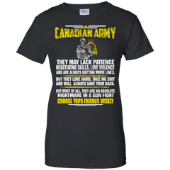 Canadian Army Shirts Choose Your Friends Wisely