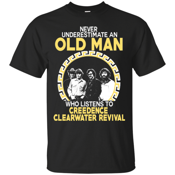 Creedence Clearwater Revival Shirts Old Man Listens To Creedence Clearwater Revival T shirts