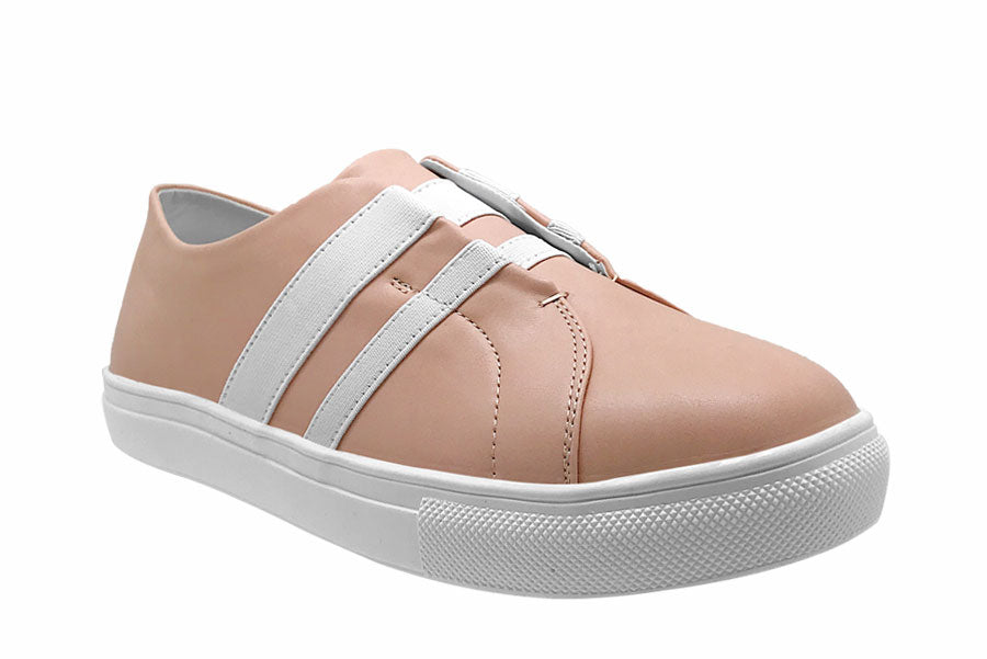 Slip On Sneakers with Elastic Details