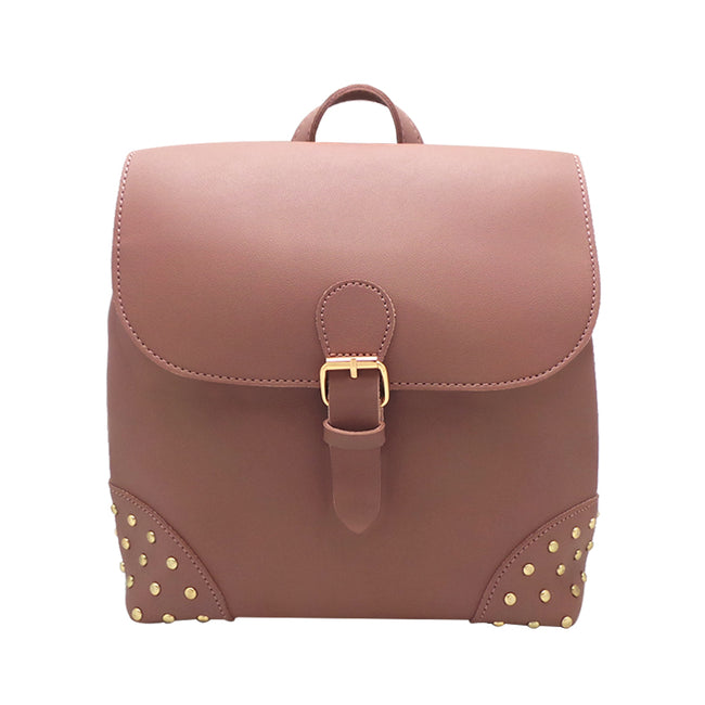 Front Flap Backpack with Studs