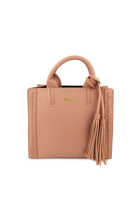 Top Handle Sling Bag with Braided Side Details