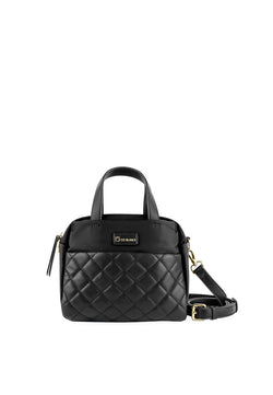 Top Handle Small Bag With Quilted Details
