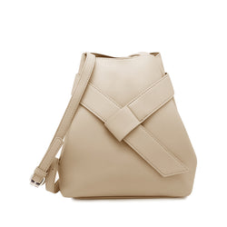 Asymmetric Strap Bucket Bag