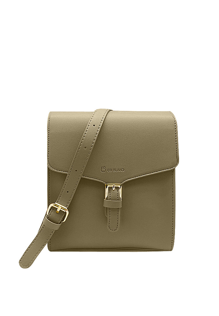 Front Flap Sling Bag with Buckle