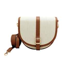 Buckled Front Flap Sling Bag