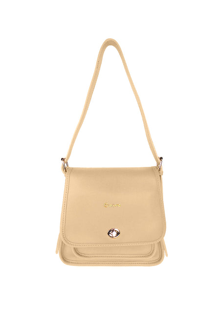 Front Flap Sling Bag with Turn Lock