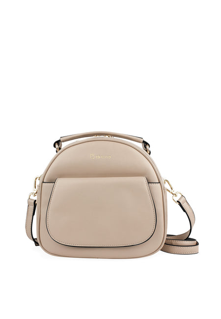 Semi-Circle Cross-body Bag with Top Handle