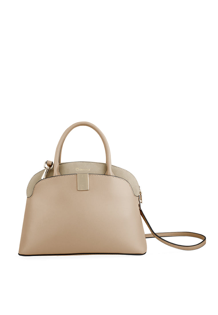 Double Handle Structured Cross-body Bag