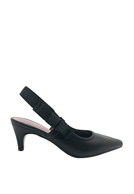 Side-bow Slingback Pointy Heels