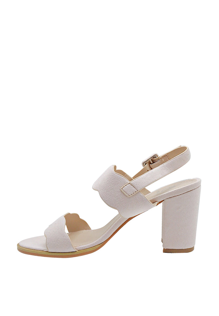 Dual Strap Slingback Scalloped Sandals