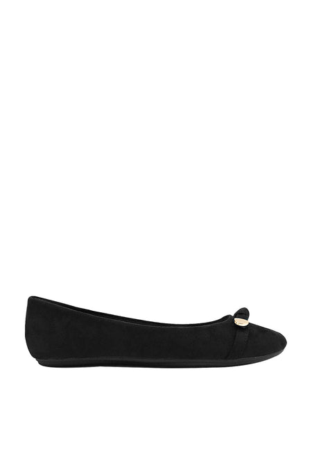 Metal Tip Flat Ribbon Ballerinas