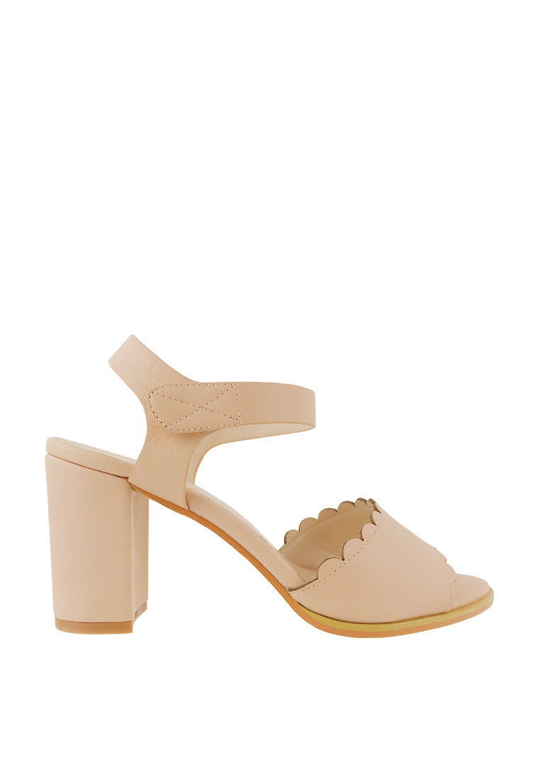 Scalloped Slingback Sandals