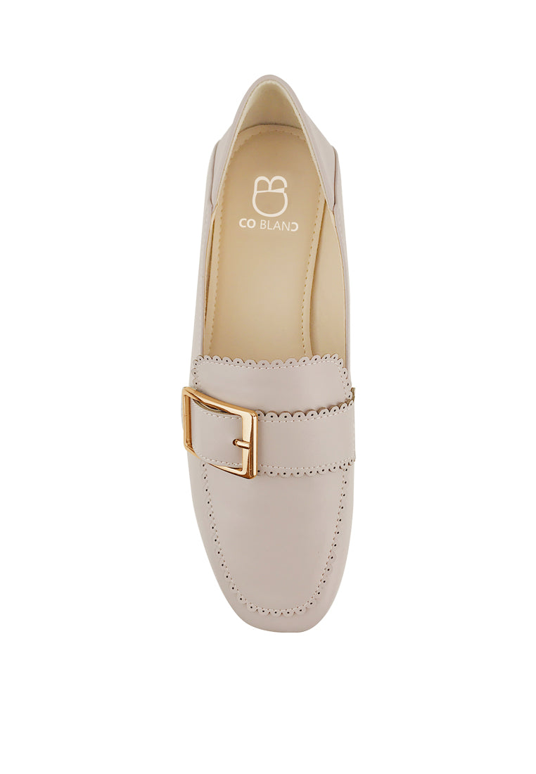 Loafers with Rectangular Buckle