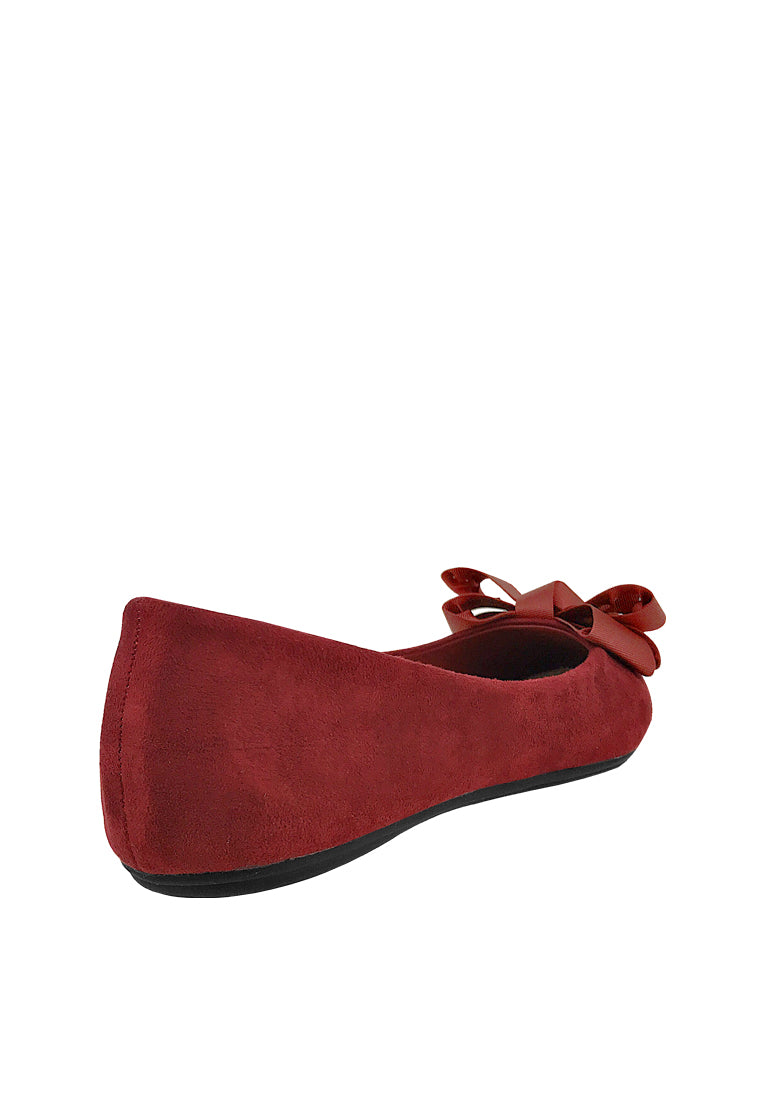 Sweet Bow Square Toe Ballerinas