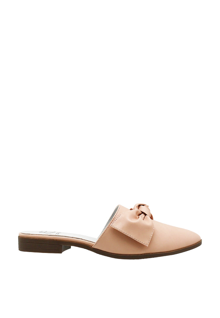 Flat Mules with Bow