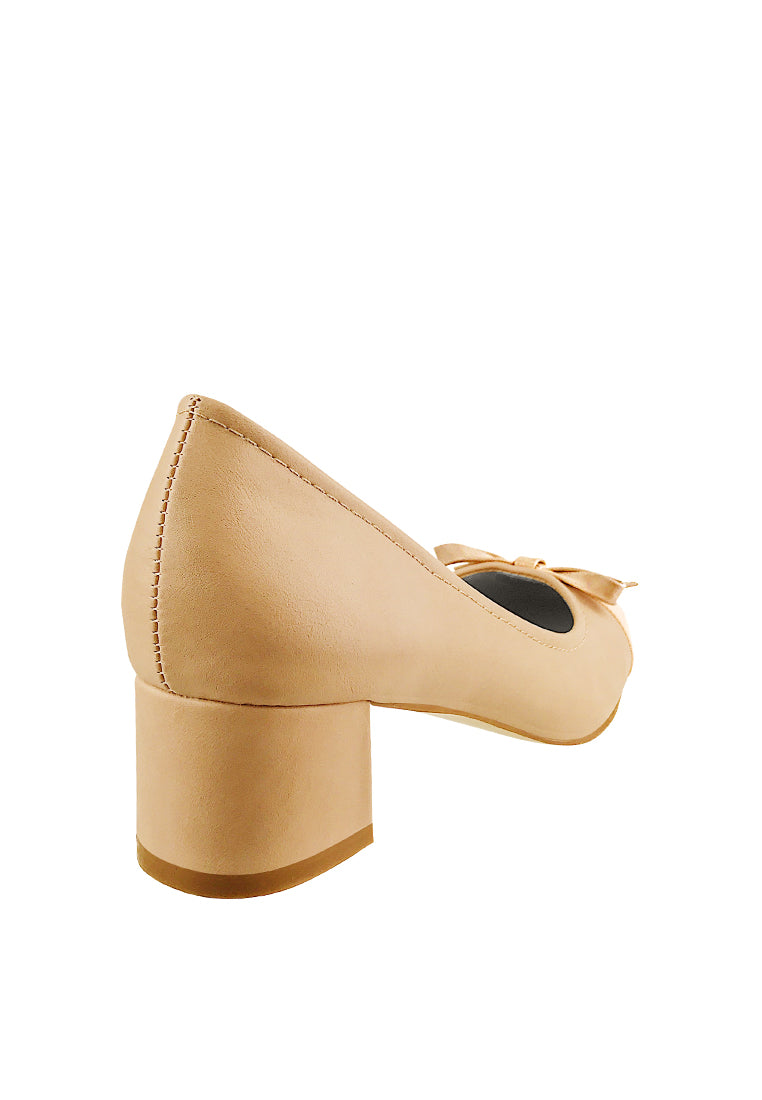 Toe Cap Pump Heels with Ribbons