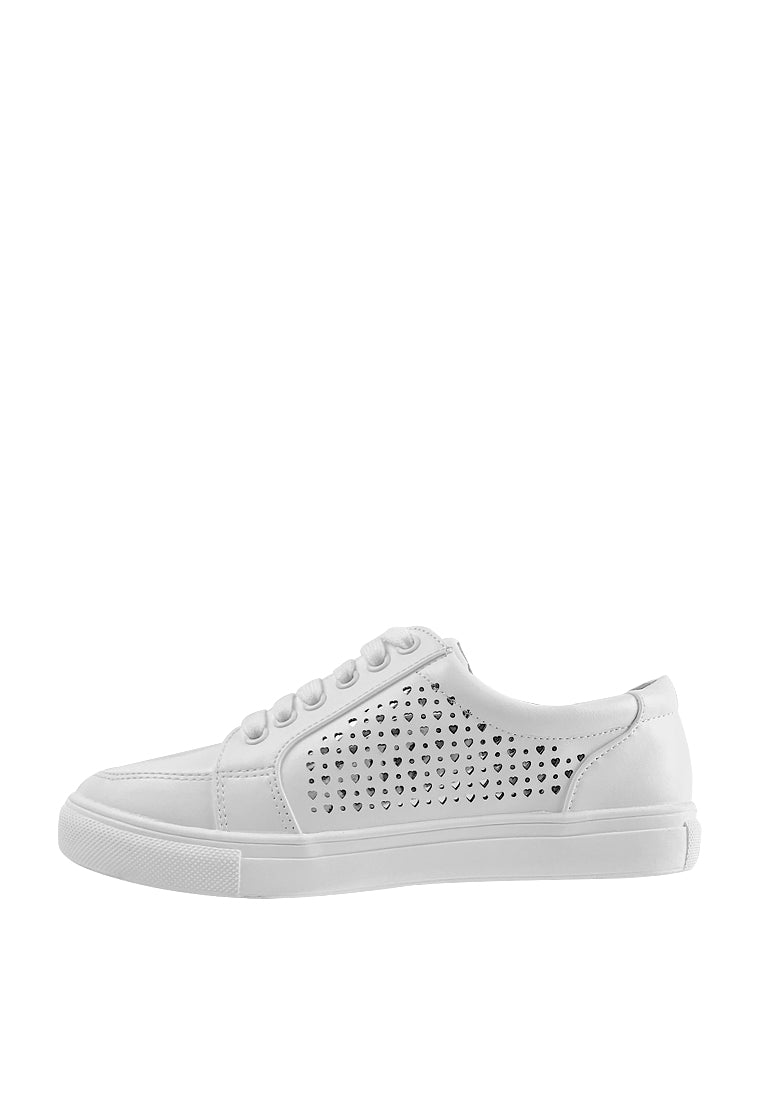Perforated Sneakers with Zip Details