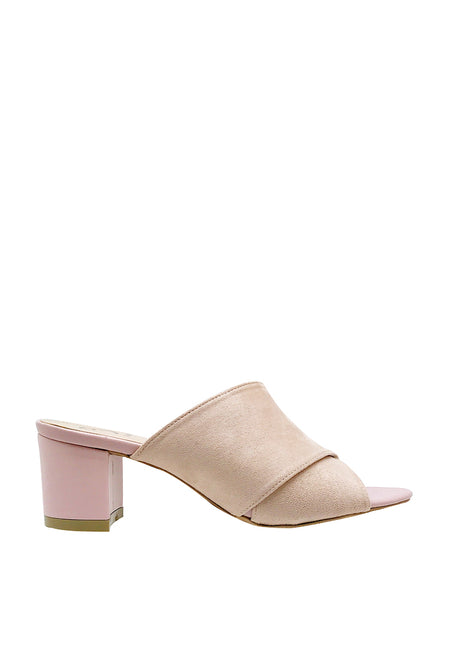 Criss-cross Block Heel Mules