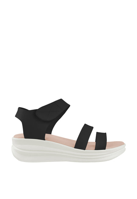 Dual Straps Slingback Wedge Sandals
