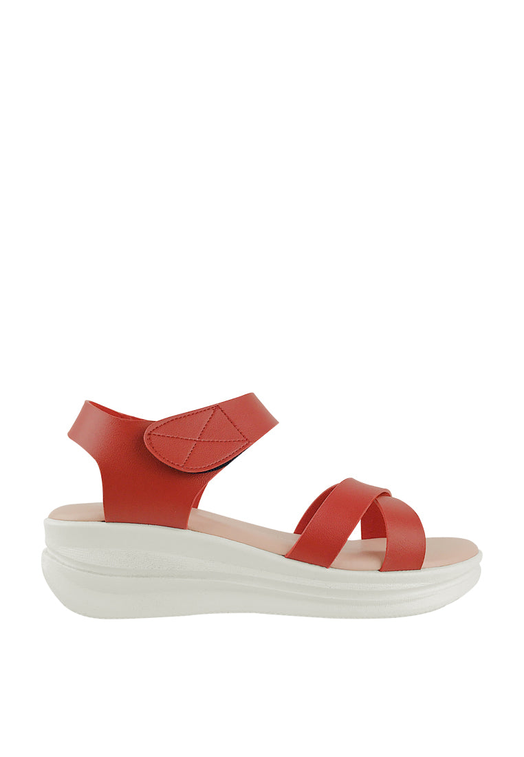 Criss-cross Straps Slingback Wedge Sandals
