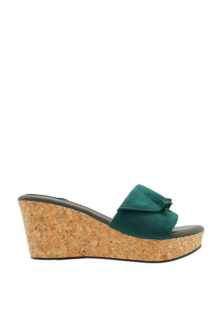 Ruffled Wedge Sandals