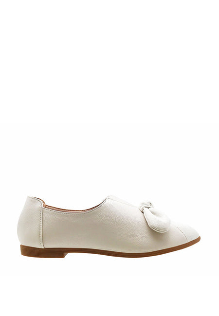 Slip On Pump Flats with Bow