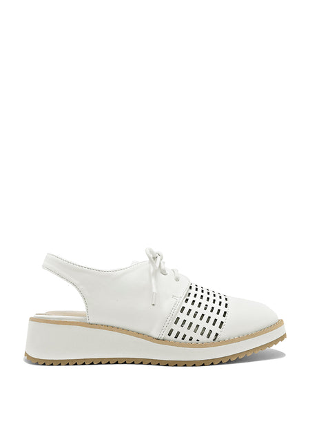 Lace Up Perforated Slingback Derby
